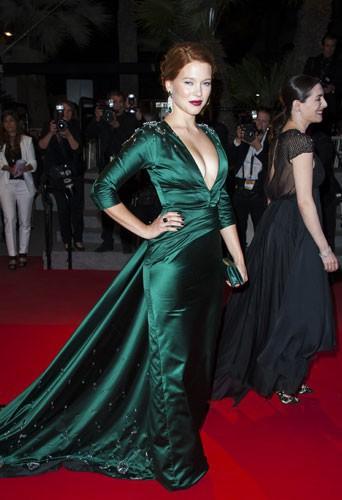 Léa Seydoux à Cannes pour la projection de Saint-Laurent, en mai 2014
