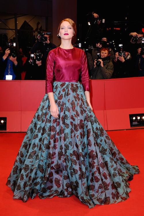 Léa Seydoux à la première de La Belle te la bête en février 2014