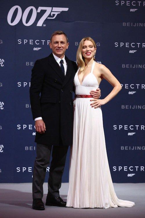 Photos : Léa Seydoux, une Marilyn à son apogée pour présenter Spectre à Pékin !