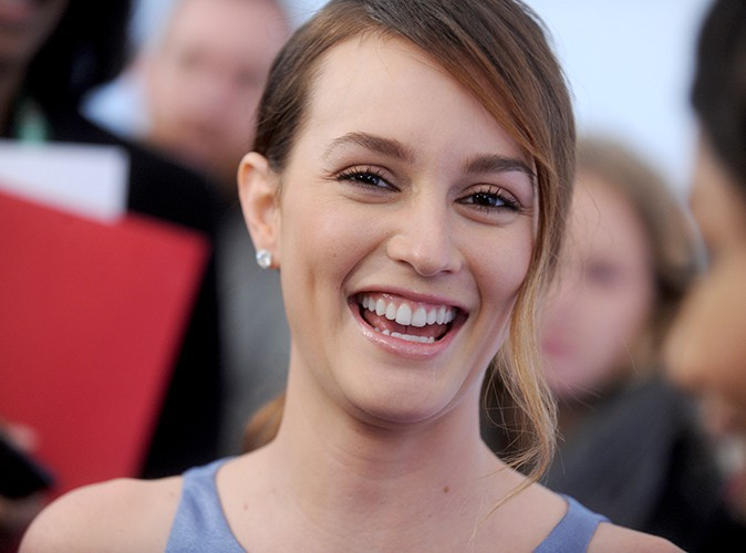 Leighton Meester à New York le 18 avril 2014