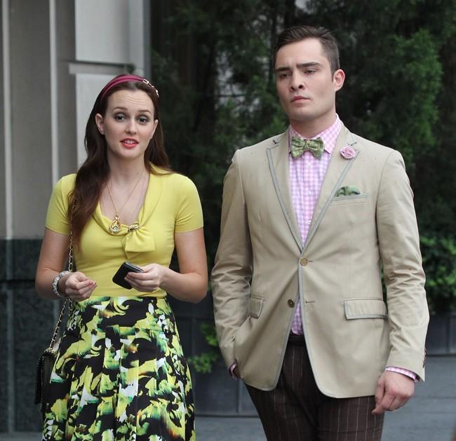 Leighton Meester et Ed Westwick le 10 août 2012 à New York
