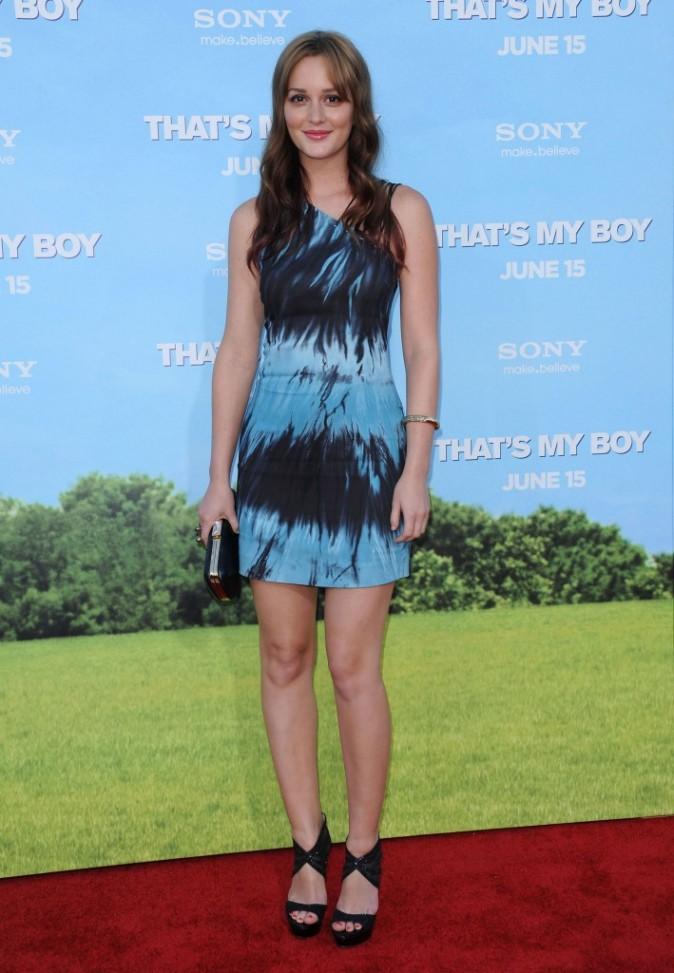 Leighton Meester lors de la première du film That's My Boy à Westwood, le 4 juin 2012.