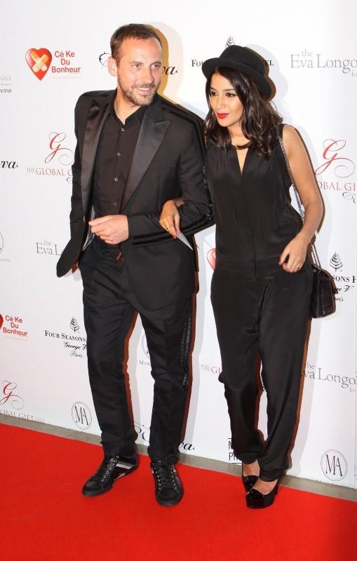 Leïla Bekhti et Fred Testot lors du Global Gift Gala à Paris, le 28 mai 2012.