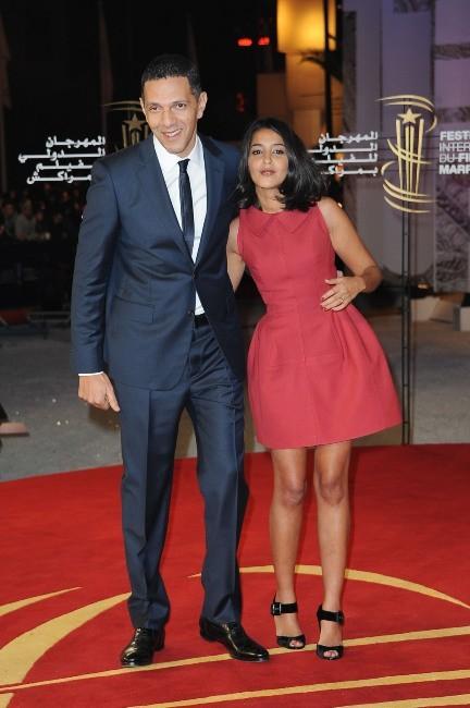Lelia Bekhti et Rochdy Zem lors du Festival International du Film de Marrakech, le 4 décembre 2011.