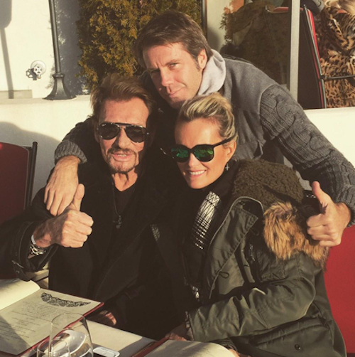 Johnny et Laeticia Hallyday à Gstaad