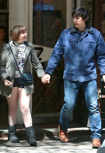 Lena Dunham et Adam Driver à New York le 16 avril 2014