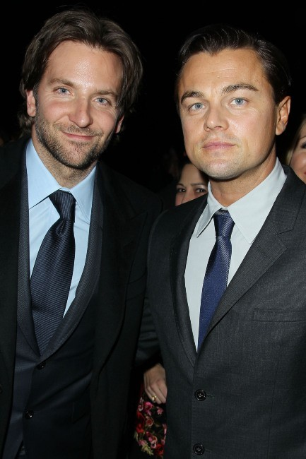 Bradley Cooper et Leonardo DiCaprio le 8 janvier 2013 à New York