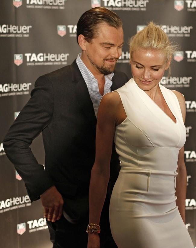 Cameron Diaz et Leonardo DiCaprio le 25 mai 2013 à Monte-Carlo