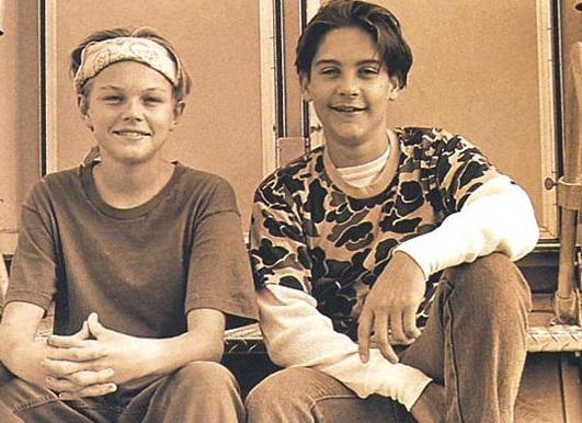 Leonardo DiCaprio et Tobey Maguire plus jeunes