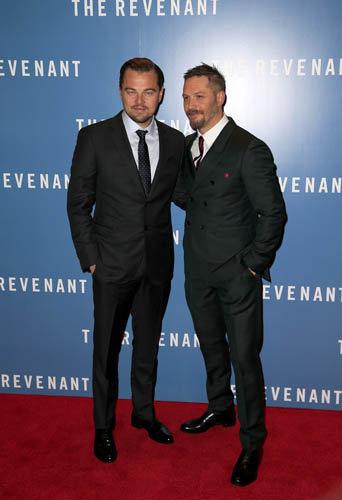 Leonardo DiCaprio à la première du film The Revenant, le 14 janvier à Londres