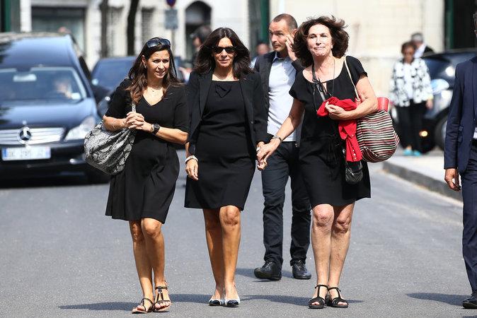 Anne Hidalgo aux obsèques de Sonia Rykiel, le 1er septembre 2016