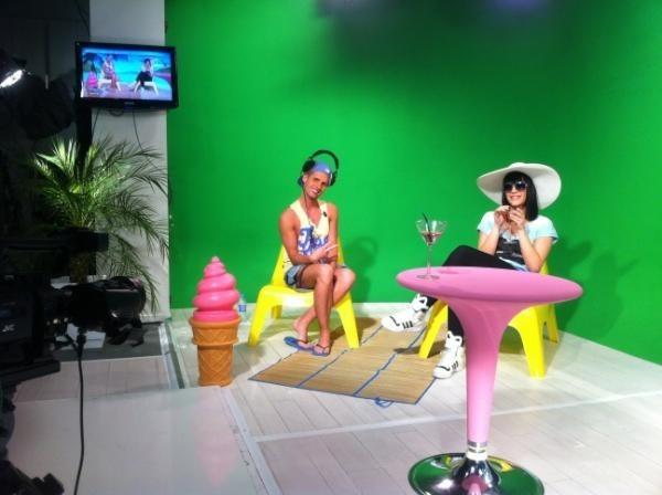 Josiane et Brigitte en plein tournage