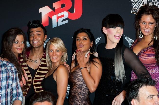 Julia, Bruno, Myriam, Ayem, Thomas et Aurélie au Ice Baar à Paris, le 27 juin 2012.