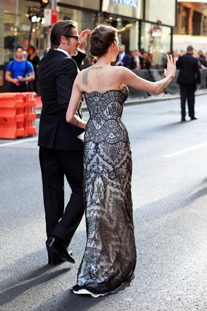 Angelina Jolie et Brad Pitt à Sydney le 16 novembre 2014