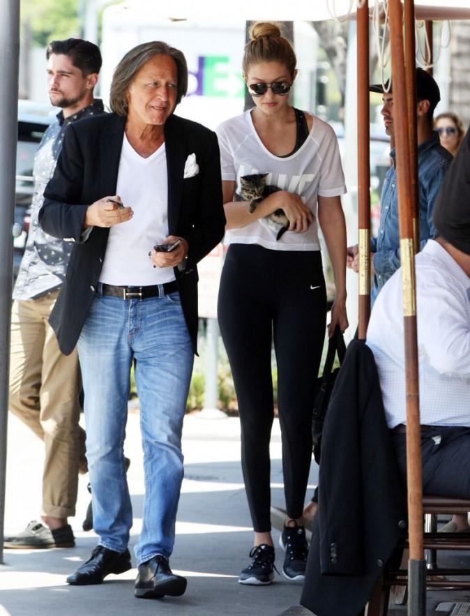 Gigi Hadid et son père le 15 juin 2015