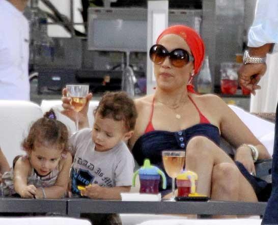Photo : Jennifer Lopez et ses enfants Emme et Max