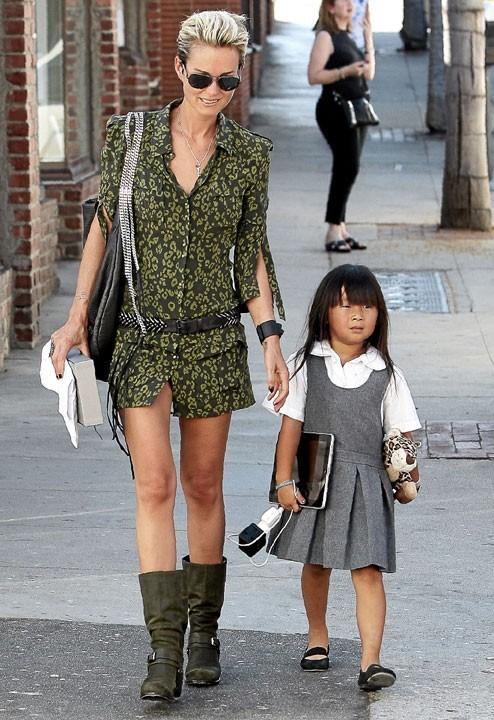 Photo : Laeticia Hallyday et sa fille Jade