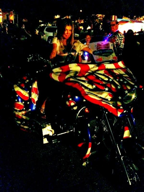 Fergie et la moto USA