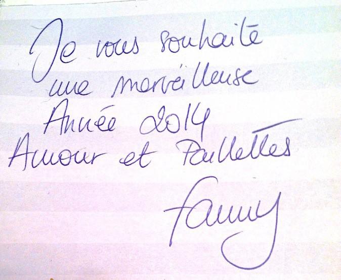 Fanny de D.I.S.C.O. souhaite une bonne année 2014 à Public !