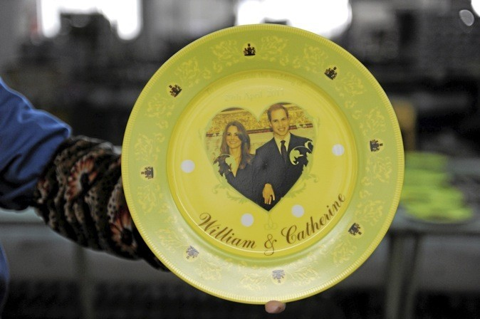 L'assiette Kate Middleton & prince William