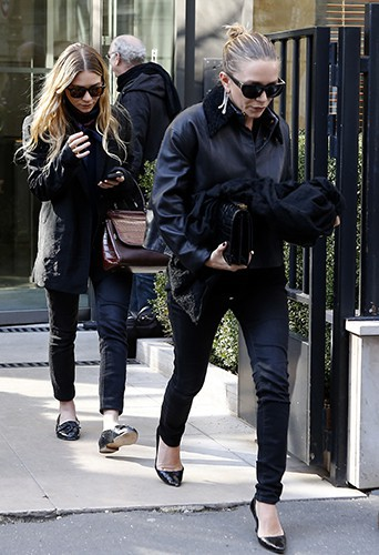 Ashley et Mary-Kate Olsen à Paris le 6 mars 2014