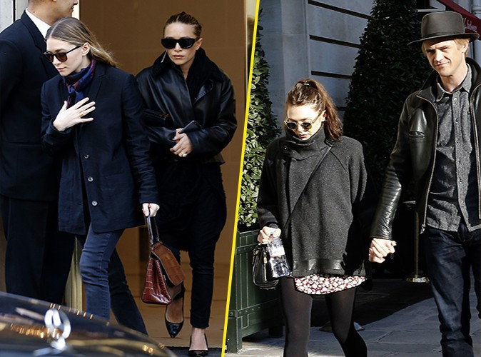 Ashley, Mary-Kate et Elizabeth Olsen à Paris le 6 mars 2014