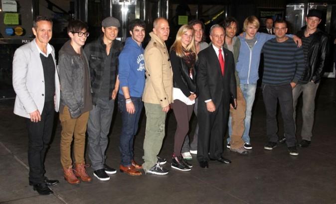 L'équipe de Glee a rencontré le maire de New York, Michael Bloomberg !