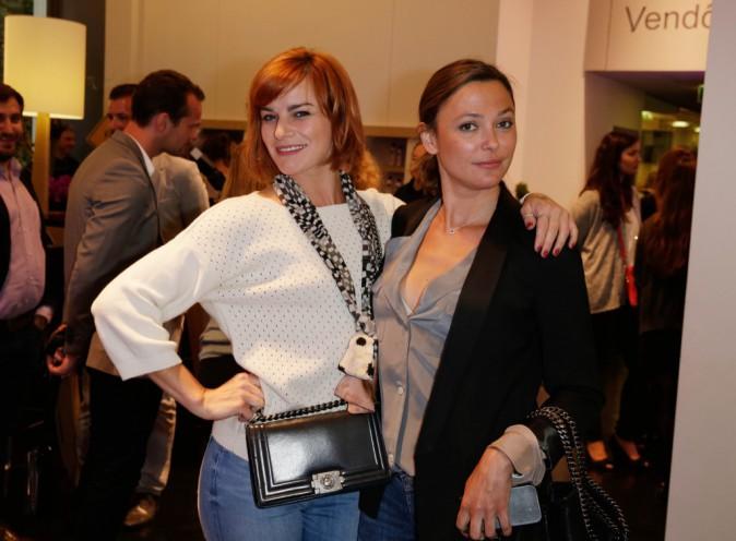 Sandrine Quétier et Fauvre Hautot à la Aussie Party à Paris, le 4 juin 2014