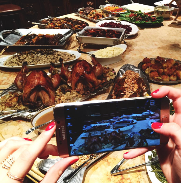 Le Thanksgiving de Bella Hadid