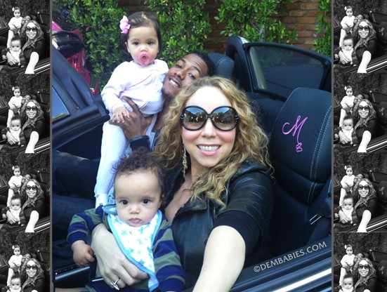 Mariah et sa petite famille