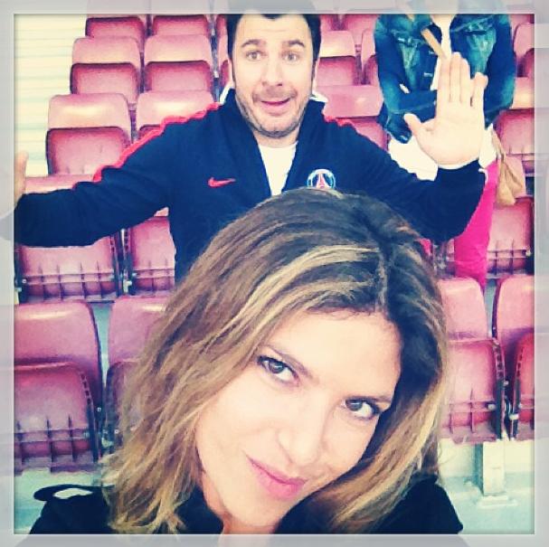 Michael Youn et Isabelle Funaro se sont rendus à Barcelone pour le match