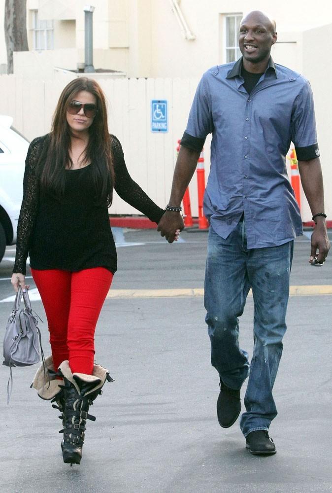 Différences de taille au sein du couple Khloé Kardashian et Lamar Odom : 30 cm