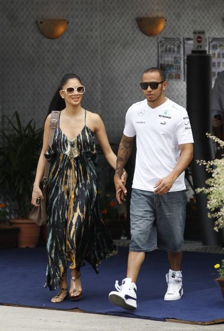 Lewis Hamilton et Nicole Scherzinger le 24 mars 2013 à Kuala Lumpur