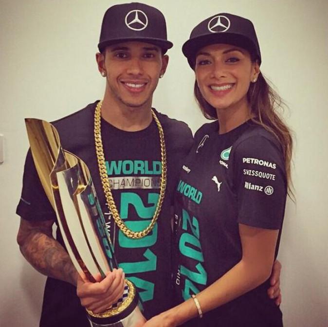 Lewis Hamilton et Nicole Scherzinger à Abu Dhabi le 23 novembre 2014