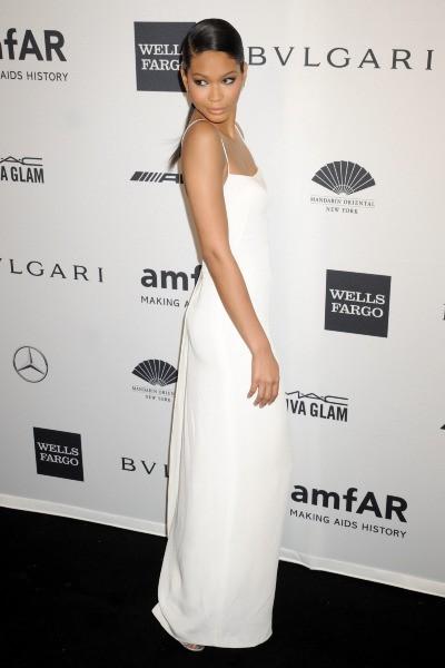 Chanel Iman lors du gala de l'amfar à New York, le 5 février 2014.
