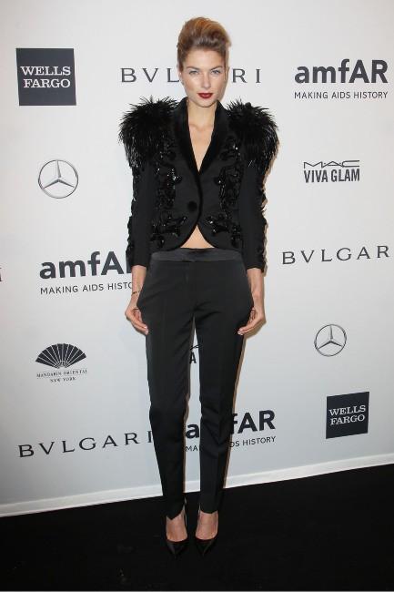 Jessica Hart lors du gala de l'amfar à New York, le 5 février 2014.