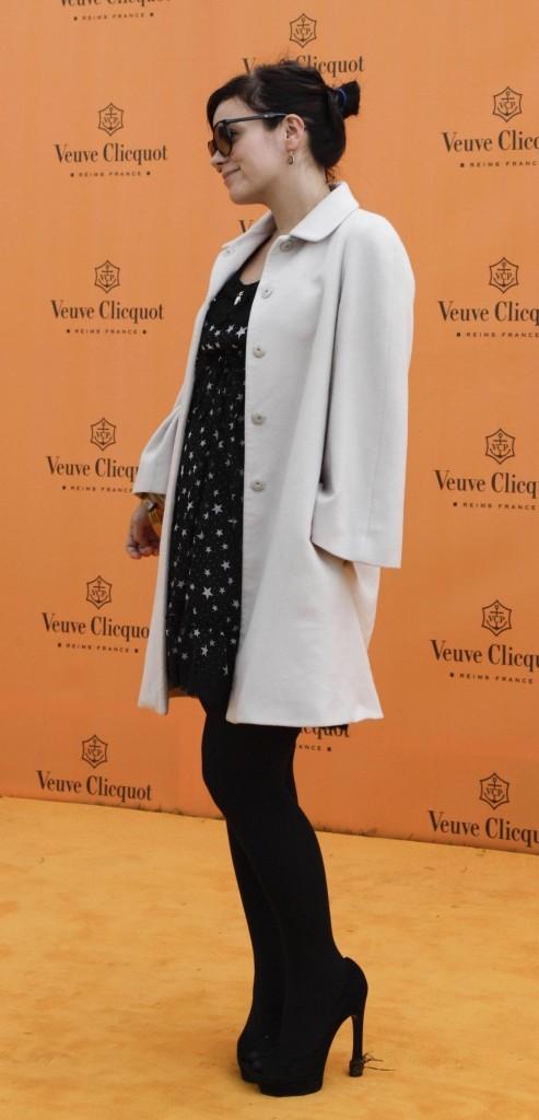 Lily Allen lors de la compétition de polo, Veuve Clicquot Gold Cup final polo, lundi 18 juillet à Midhurst.