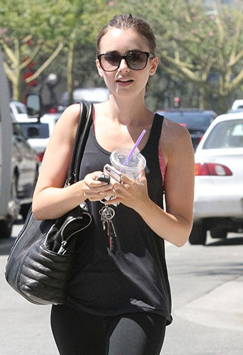 Lily Collins à Los Angeles le 14 août 2014
