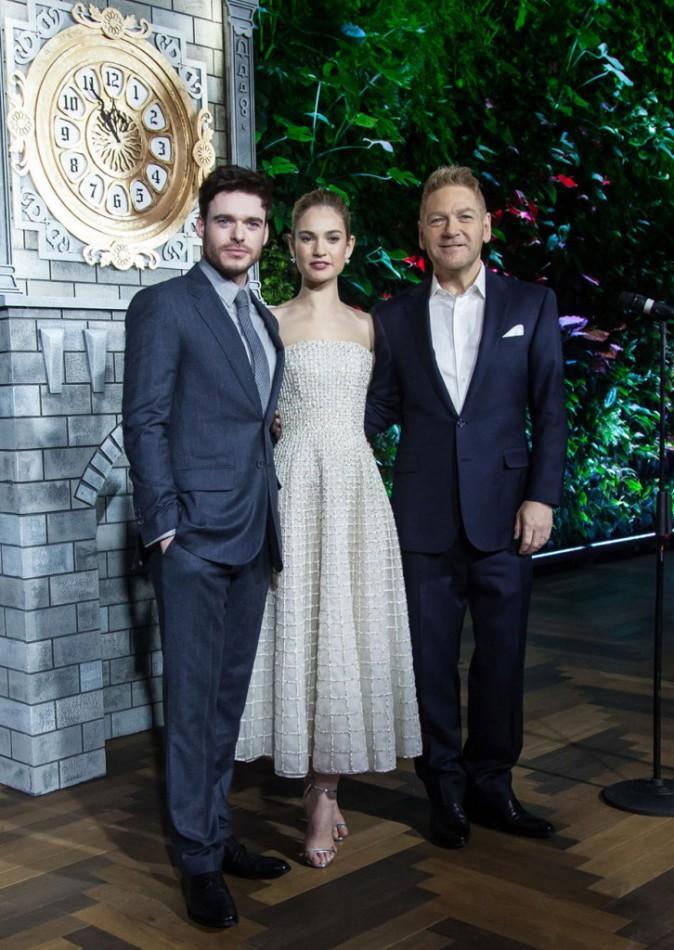 Richard Madden, Lily James et Kenneth Branagh