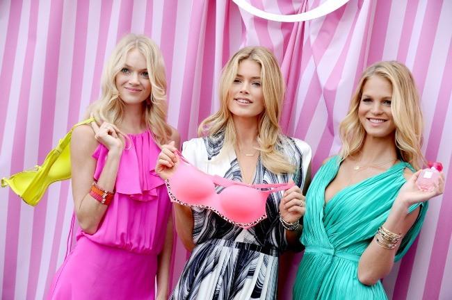 Lindsay Ellingson, Doutzen Kroes et Erin Heatherton en promo à Beverly Hills, le 10 mai 2012.