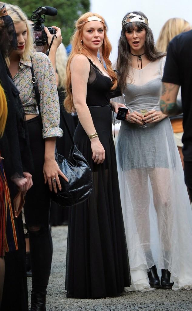 Lindsay Lohan au défilé de sa soeur le 4 septembre 2013