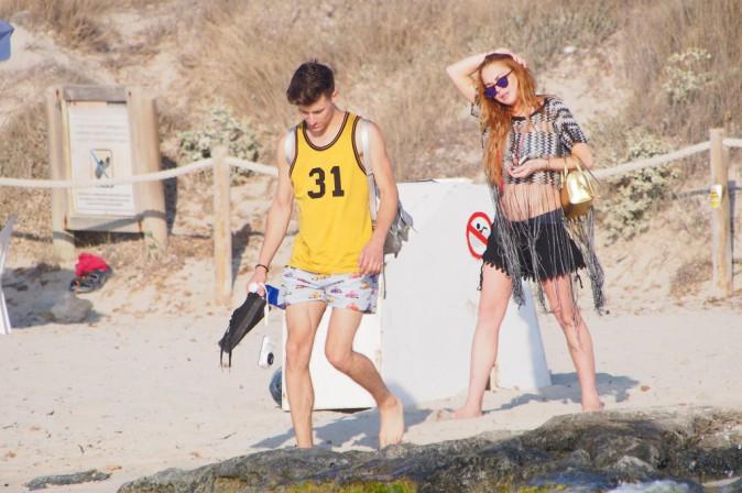 Lindsay Lohan entre amis le 27 juillet à Ibiza