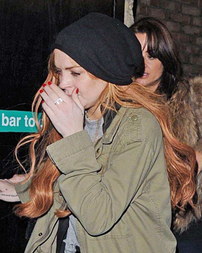 Lindsay Lohan à Londres, dans la nuit du 3 janvier 2013.