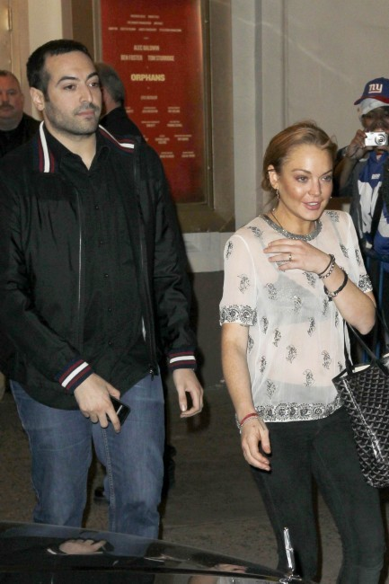 Lindsay Lohan à New York, le 23 avril 2013