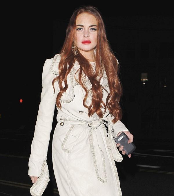 Lindsay Lohan à la sortie d'un club de Santa-Monica le 4 juillet 2012