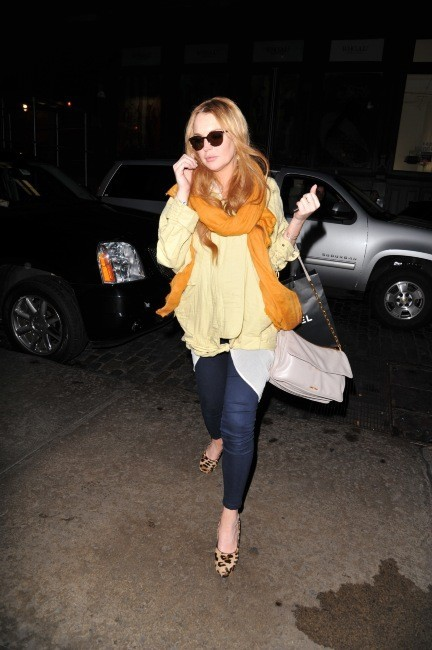 Lindsay Lohan à New York, le 3 mai 2012.