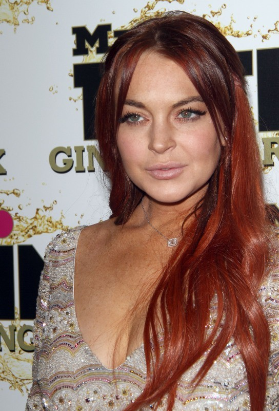 "Lindsay Lohan lors de la soirée ""Mr. Pink Ginseng Drink Launch Party"" à Los Angeles, le 11 octobre 2012."