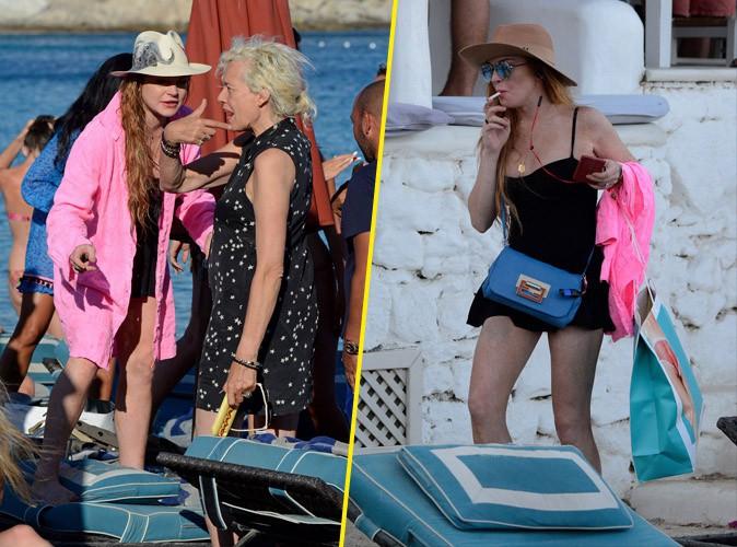 Lindsay Lohan à Mykonos, le 21 juillet 2015