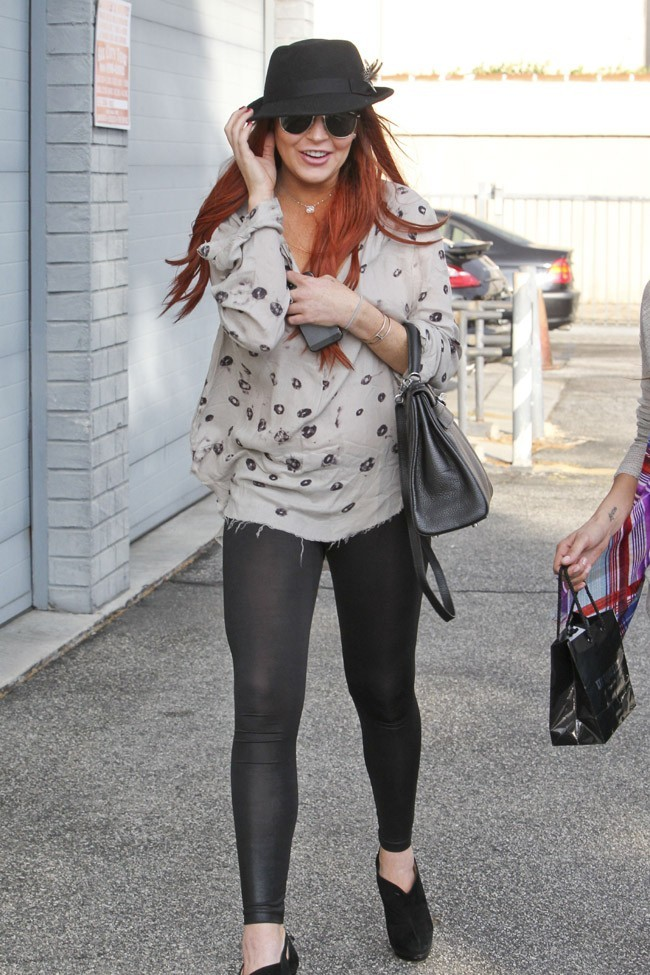 Lindsay Lohan à Los Angeles le 12 octobre 2012