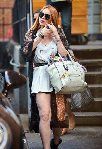 Lindsay Lohan à New-York le 30 août 2013